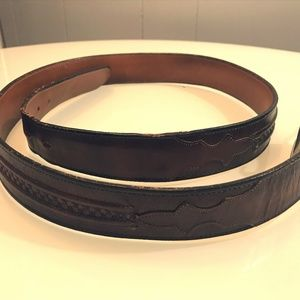 Lucchese Boot Co. Brown Leather Western Belt 38